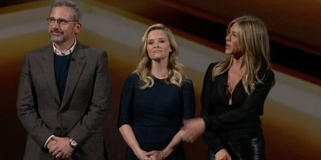 Steve Carell, Reese Witherspoon et Jennifer Aniston tiennent la vedette dans «The Morning Show», qui...