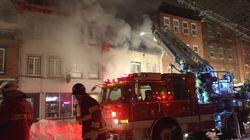 Les pompiers obligés de détruire un édifice du Vieux-Port de