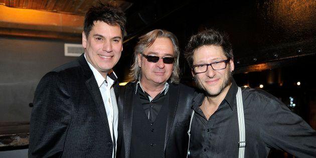 Patrick Bourgeois, Alain Lapointe et Francois Jean lors du lancement de leur dernier album en