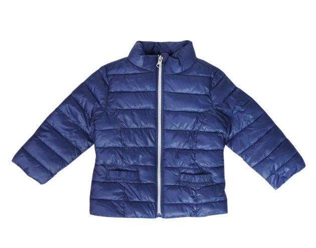 Blue child's coat jacket isolated.Baby fashion outwear