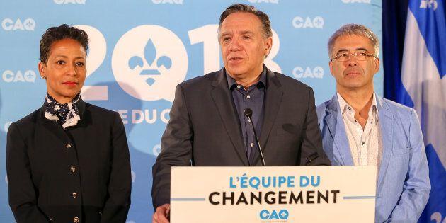 Nadine Girault et Stéphane Le Bouyonnec avec leur chef François