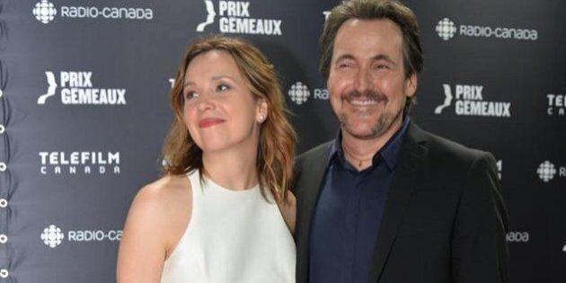 Guy A. Lepage et Mélanie Campeau se sont