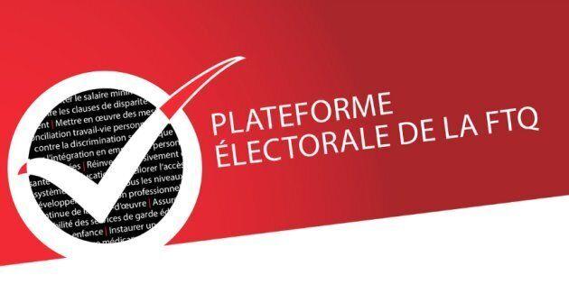 La FTQ présente sa liste d'épicerie en vue des élections générales au