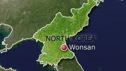 북한이 동해상으로 '단거리 발사체'를