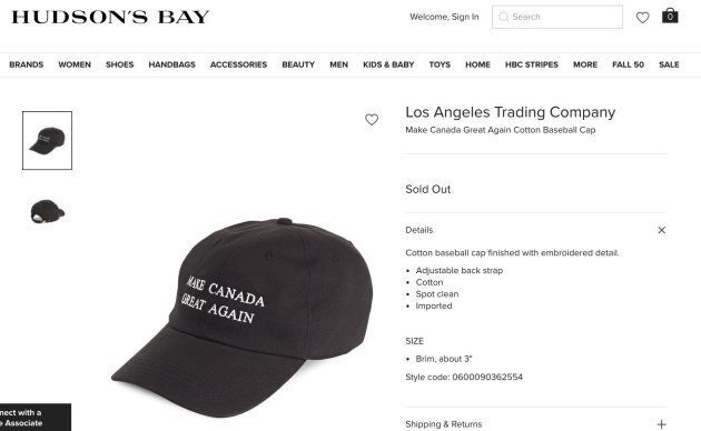 The Bay ditches 'Make Canada Great Again'