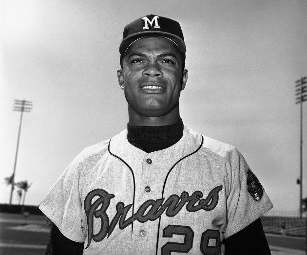 Felipe Alou, alors joueur de champ intérieur pour les Braves de Milwaukee, en mars 1965.