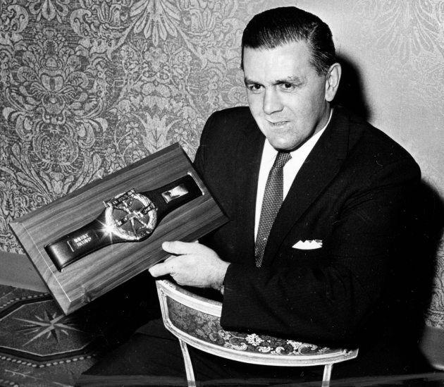 Maurice Richard été nommé «Athlète de la décennie 1950-1960», le 26 novembre 1962 à New York.