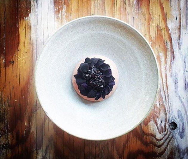 Mousse de foie, sureaux fermentés, noyer noir.