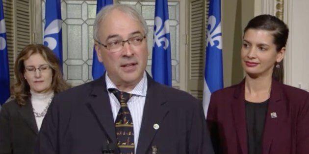 Alain Cossette, DG de la Fédération québécoise des chasseurs et pêcheurs, était présent à l'annonce de...
