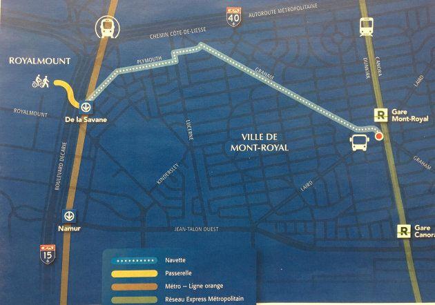 Carbonleo promet de relier le projet Royalmount à la station Mont-Royal du Réseau express métropolitain...
