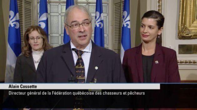 Alain Cossette, DG de la Fédération des chasseurs et pêcheurs, s'est rallié à l'annonce de la ministre Geneviève Guilbault.