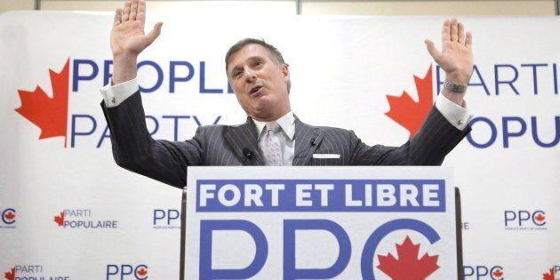 Le chef du Parti populaire du Canada, Maxime