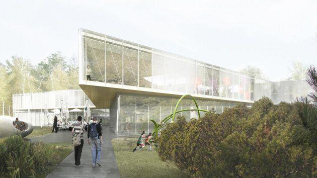 Une maquette de la bibliothèque de Pierrefonds, agrandie en 2017 et 2018 par la Ville de Montréal. L'entrepreneur...