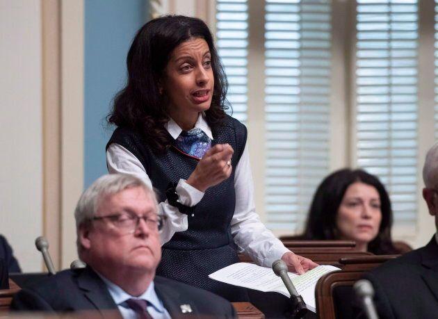 De vifs échanges ont eu lieu entre la libérale Dominique Anglade et le ministre Simon Jolin-Barrette...