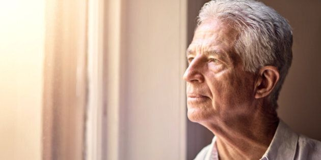 Shot of a senior man looking