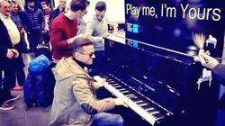 L'aéroport de Charleroi sous le charme d'un pianiste