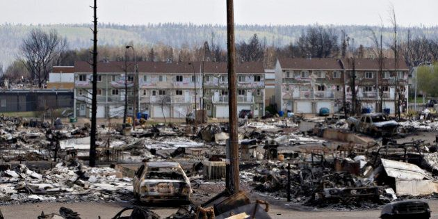 FILE PHOTO: The devastated neighbourhood of Abasand is shown after being ravaged by a wildfire in Fort...