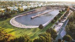Un stade transformé en piscine à vagues géante