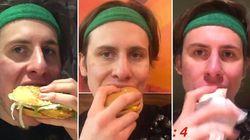 Ce Londonien s'est lancé un défi McDonald's vraiment stupide