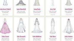 Voyez les 100 robes de mariée les plus mémorables de tous les temps