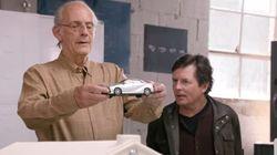 Marty et Doc dans une publicité de