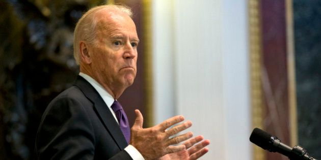 Vice President Joe Biden speaks about Domestic Violence Awareness Month, Thursday, Oct. 15, 2015, in...