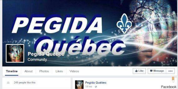 Rassemblement de Pégida Québec près des bureaux de Justin Trudeau à