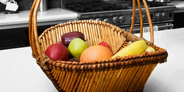 Fruit basket on a table
