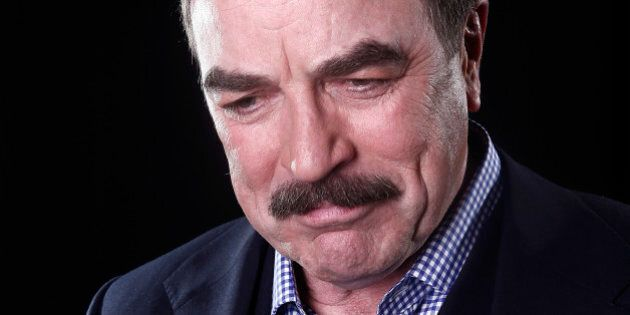 Actor Tom Selleck poses for a portrait Mar. 21, 2012 in New York. (AP Photo/Carlo