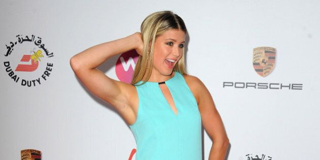 LONDON, ENGLAND - JUNE 19: Tennis Player Eugenie Bouchard attends the WTA Pre-Wimbledon Party as guests...