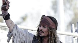Johnny Depp (ou Jack Sparrow) en visite dans un