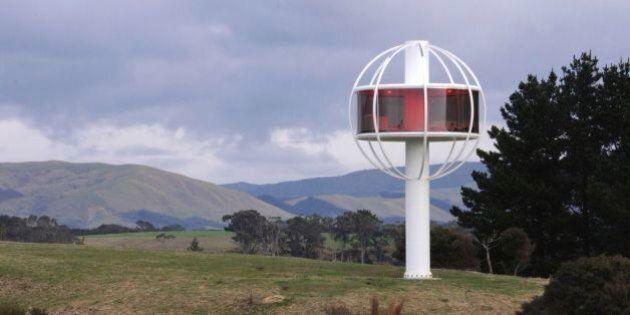 La Skysphere, une cabane de jardin pour adultes