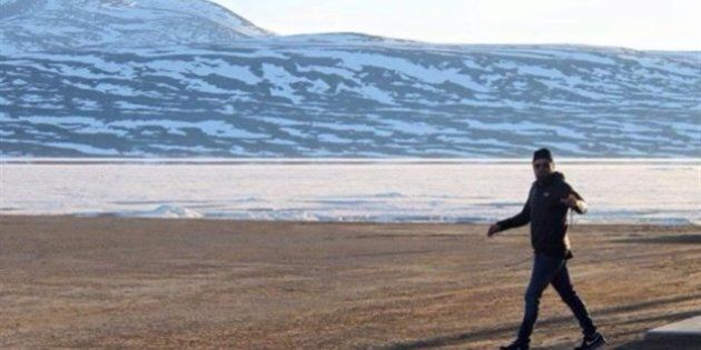 Leonardo DiCaprio en visite au Nunavut