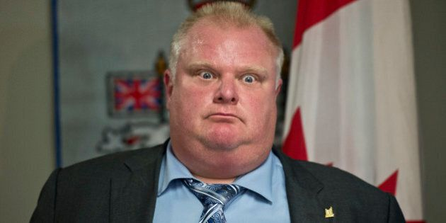 TORONTO, ON - JUNE 21: Toronto Mayor Rob Ford held a press conference at City Hall Friday afternoon in...