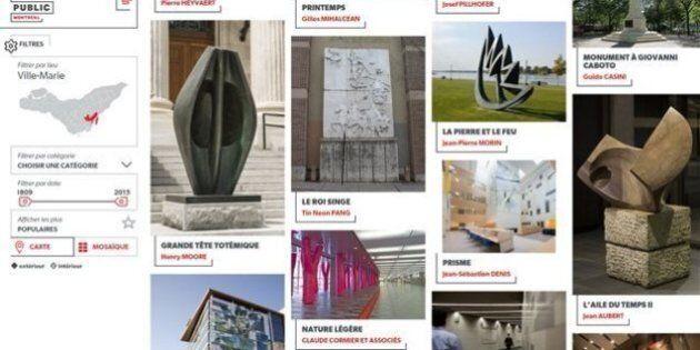 600 œuvres d'art public de Montréal maintenant accessibles en