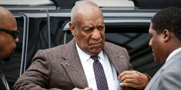 TOPSHOT - Comedian Bill Cosby arrives at the Montgomery County courthouse for pre-trial hearings in the...