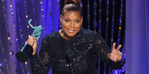 Queen Latifah accepts the award for outstanding female actor in a TV movie or miniseries for