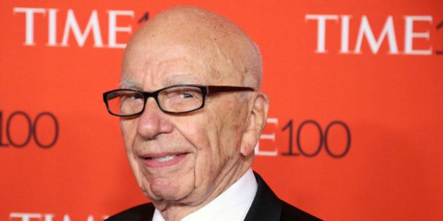 NEW YORK, NY - APRIL 21: News Corp founder Rupert Murdoch attends the 2015 Time 100 Gala at Frederick...