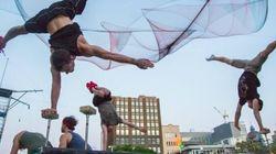 Place à «Duels», le nouveau spectacle extérieur de Montréal Complètement Cirque