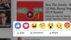 Le «J'aime» de Facebook bientôt rejoint par 6 autres