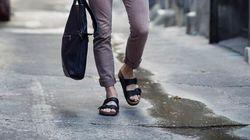 Les sandales pour lui ont la