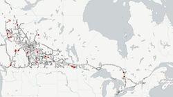 Où se sont produites les fuites le long des pipelines au