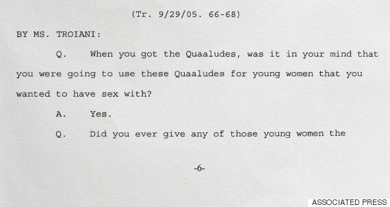 Bill Cosby a admis avoir eu l'intention de faire prendre un sédatif à des