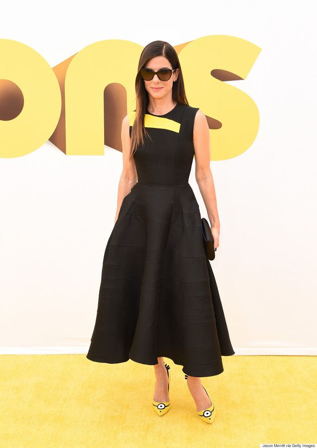Sandra Bullock porte des chaussures parfaites pour la première du film