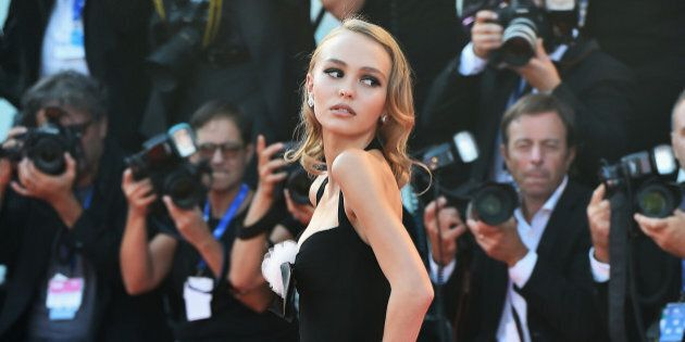 VENICE, ITALY - SEPTEMBER 08: Lily-Rose Depp attends the premiere of 'Planetarium' during the 73rd Venice...
