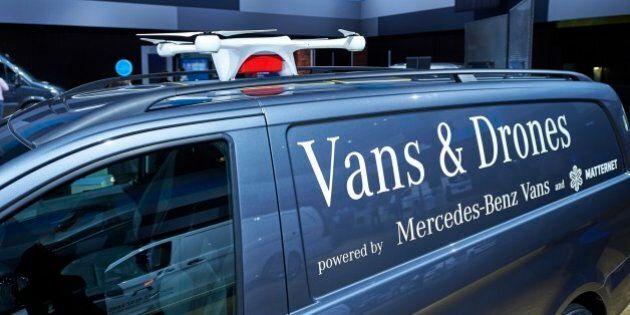 Robots et drones, le futur de la livraison selon Mercedes-Benz AdVANce