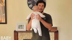 Un papa montre 17 façons différentes de porter un bébé