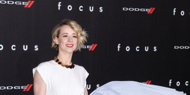 Karine Vanasse arrives at the world premiere of