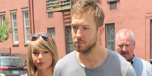 NEW YORK - MAY 28: Taylor Swift and Calvin Harris get lunch at the Spotted Pig on May 28, 2015 in New...
