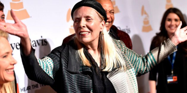 In this Feb.7, 2015 file photo, Joni Mitchell arrives at the 2015 Clive Davis Pre-Grammy Gala at the...